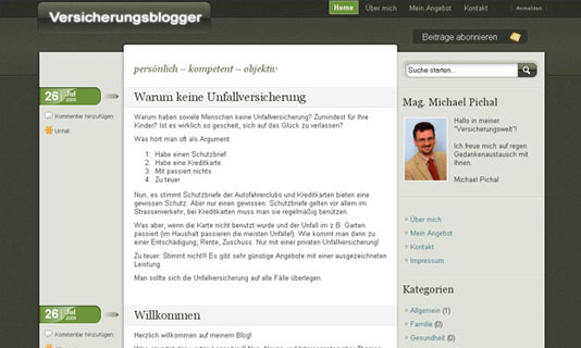 Image for 'www.versicherungsblogger.at' 1